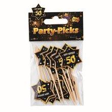 Bristol Novelty 50th Birthday Party Picks (Pack Of 12)