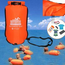 20L inflatable open swimming buoy, dual air with swim strap safe water