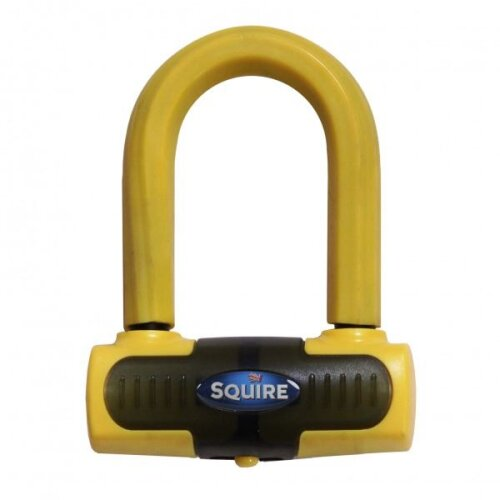 Squire Eiger Mini Motorcycle Brake Disc U-Lock Sold Secure Gold Yellow