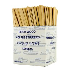 Robinson Young Wooden Coffee Stirrers 18cm - 10x1000