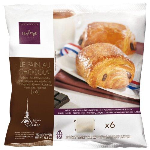 Bridor Lenotre Frozen Pain au Chocolat - 10x6