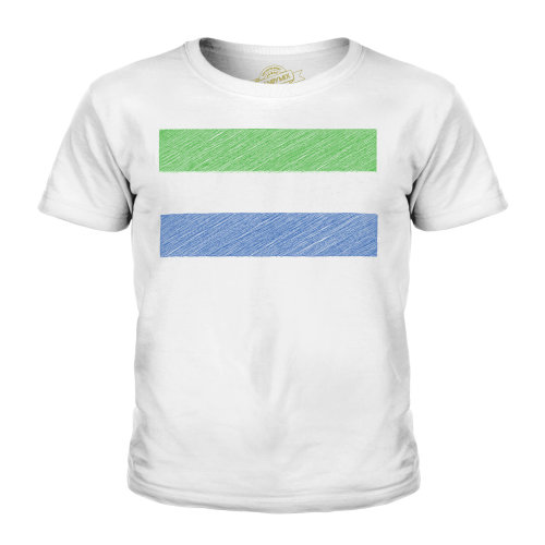 Candymix - Sierra Leone Scribble Flag - Unisex Kid's T-Shirt