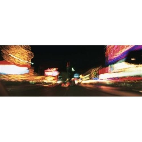 The Strip At Night  Las Vegas  Nevada  USA Poster Print by  - 36 x 12