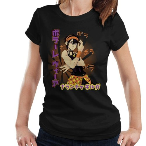 Narancia Ghirga Volare Via Jojos Bizarre Adventure Women's T-Shirt