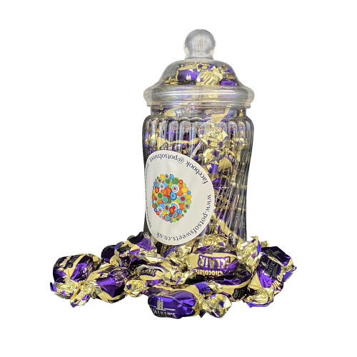 220g Spiral Jar of Walkers Individually Wrapped Walkers Milk Chocolate Eclairs