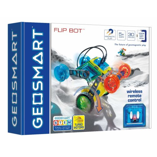 GeoSmart Flip Bot With Wireless Remote Control Magnetic Play 30 PCs Ages 5 Years+