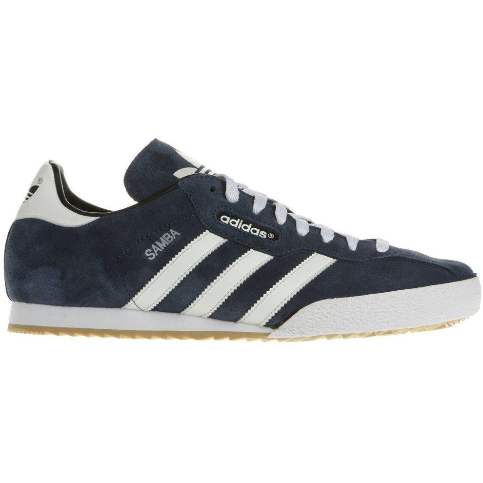 (8.5) adidas Originals Samba Super Suede Trainers - Navy