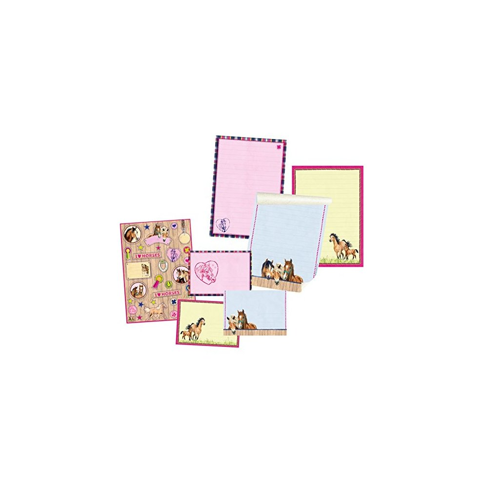 Horse Friends Stationery Writing Paper Set Model # 12511