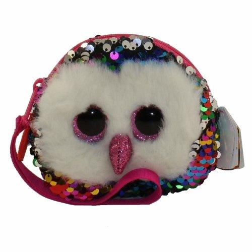 TY Flippable Sequins Owen Owl Wristlet