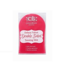 Cocoa Brown Deluxe Double Sided Pink Velvet Tanning Mitt