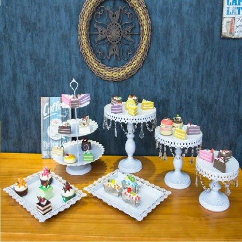 6X/Set Cake Cupcake Stand Display Dessert Holder Wedding Party Crysta