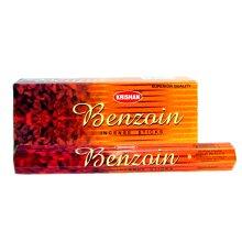 Krishan Incense | Benzoin Perfume Room Aroma 120 Joss Sticks