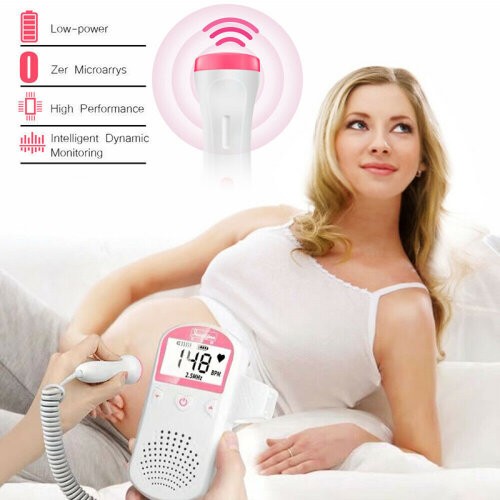 Baby LCD Ultrasonic Detector Fetal Doppler Prenatal Heart Rate Heart-beat Monitor Listen To Your Unborn Baby's Heartbeat