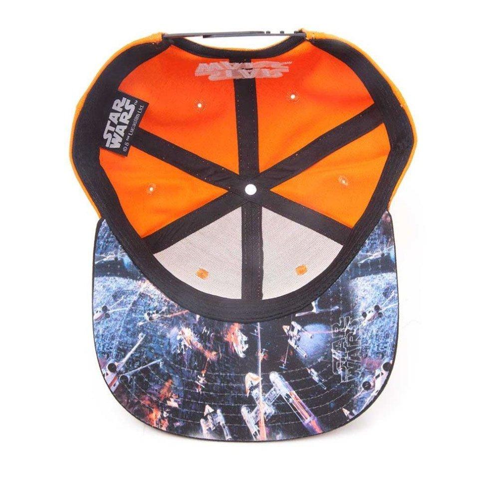 STAR WARS Resistance Logo Embroidered Patch Snapback Baseball Cap Orange//Black