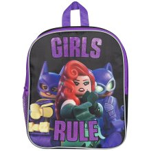 Lego Batman Backpack Girls Rule School Bag Childrens Backpack Cat Woman