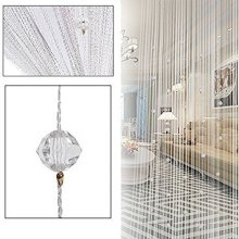 HTOYES Decorative Door String Curtain Beads Wall Panel Fringe Window Room Divider Blind for Wedding Coffee House Restaurant Parts Crystal Tassel...