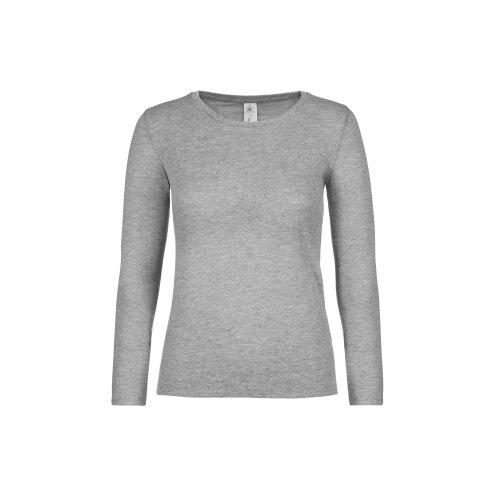 B&C Collection Womens #E150 Plain Cotton Crew Neck Long Sleeved T-Shirt Tee Top