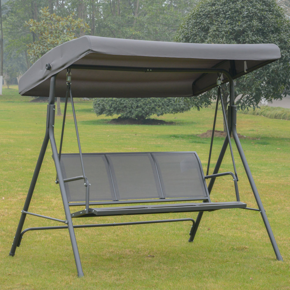 Heavy Duty Counter Stools, Outsunny 3 Seater Swing Chair Garden Hammock Canopy Patio Outdoor Bench Seat On Onbuy
