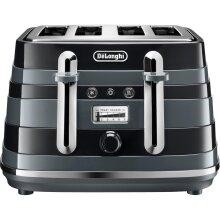 De'Longhi Avvolta CTAC4003.BK 4 Slice Toaster - Black