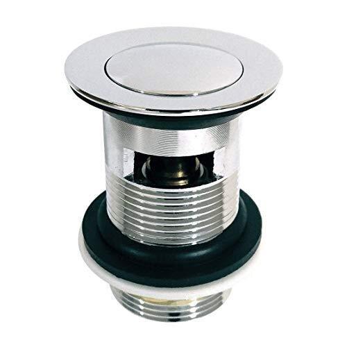 Xcel Home Quality Slotted Chrome Click Clack Basin Pop Up Waste Brass Sink Basin Plug -FBA
