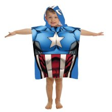 Captain America 808090 Marvel Captain America Youth Hooded Poncho Towel