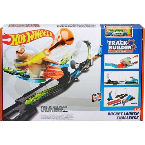 Hot Wheels FLK60 Track Builder Rocket Challenge Connectable Track Set