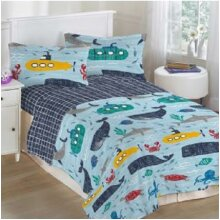 Deep Sea Single Polycotton Kids Duvet Cover Set
