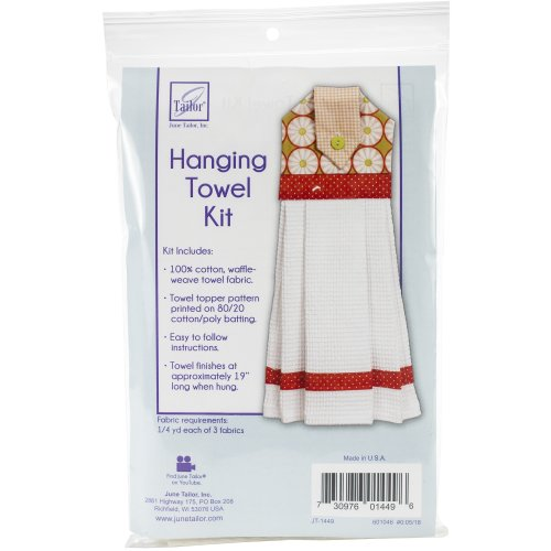 """June Tailor Quilt As You Go Hanging Towel Kit-19"""" Long"""