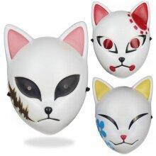 Anime Demon Slayer Kimetsu no Yaiba Face Mask Halloween Cosplay Fancy Dress Prop
