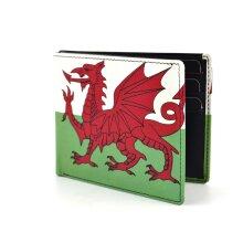 Golunski Mens Quality Leather Wallet Wales Welsh Flag Retro Range Gift Boxed