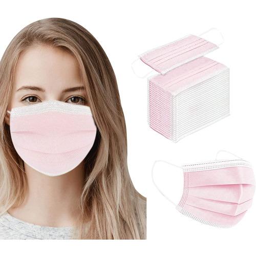 50 Pink Disposable Face Masks
