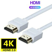 (1.2m) HDMI Cable High Speed HDMI Version 2.0 Lead - White