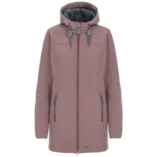 (XXS, Dusty Heather) Trespass Womens/Ladies Kristen Longer Length Hooded Waterproof Jacket