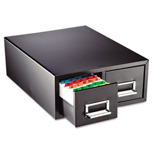 Drawer Card Cabinet Holds 1 500 5 x 8 cards  10 1/2 x 16 x 8 1/8