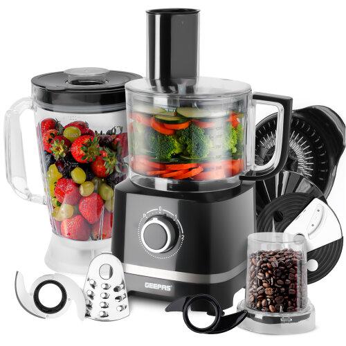 Geepas 800W 10 in 1 Food Processor Blender Grinder Chopper Slicer