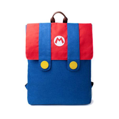 NINTENDO Super Mario Bros. Mario's Suit Top-loader Backpack with Dual Straps, Unisex, Multi-colour (BP846512NTN)