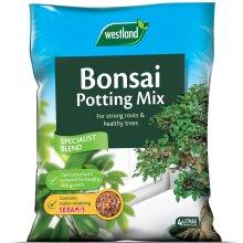 WESTLAND 4L BONSAI POTTING COMPOST MIX ENRICHED WITH SERAMIS GRANULES