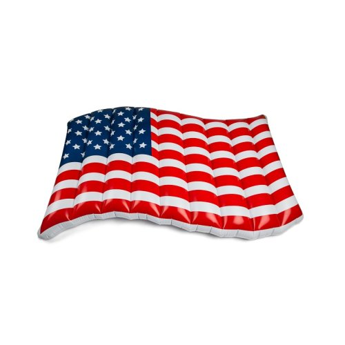 Pool Float flag USA Stars and Stripes America air mattress 150cm inflatable Size