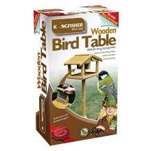 Deluxe Wooden Garden Bird Feeding Table with Built in Feeder