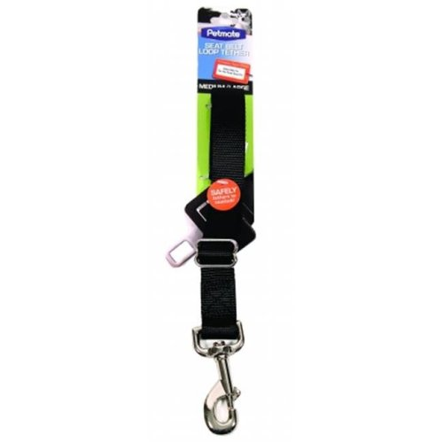 Petmate Seat Belt Loop Tether For Dogs Medium-Large Black 11483