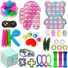 30 Pack Fidget Toys Set Sensory Tools Bundle Stress Relief Hand Kids Adults Toy
