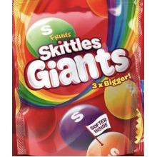 skittles fruit giants 3 x bigger 141g