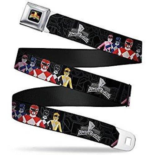 Seatbelt Belt - Power Rangers - V.8 Adj 24-38' Mesh New pra-wpr039