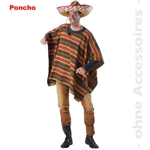 Mexican Costume Men Maxikanerponcho Texans Poncho Male costume Size Uni