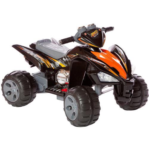 (Black) Kids Ride On Quad Bike Pro Raptor Style 12v Electric Battery Toy ATV Car