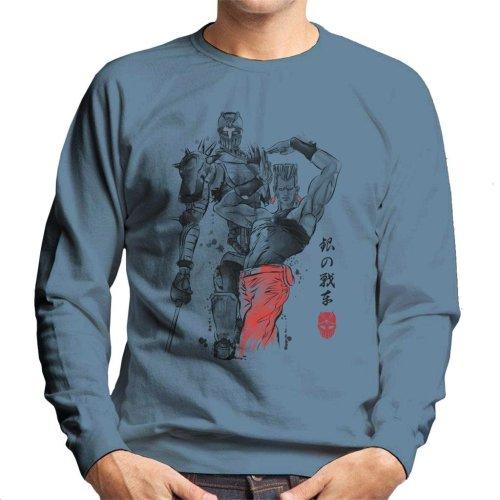 Silver Chariot Sumi E Jojos Bizarre Adventure Men's Sweatshirt