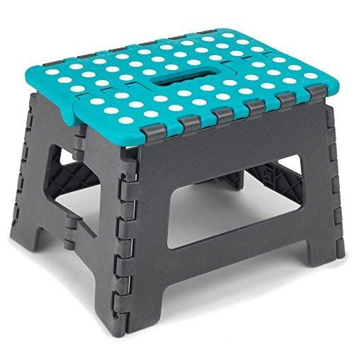 Beldray LA032614TQ DIY Small Hobby Step Stool   Plastic   Portable   Easily Foldable   Strong and Sturdy Design   Turquoise