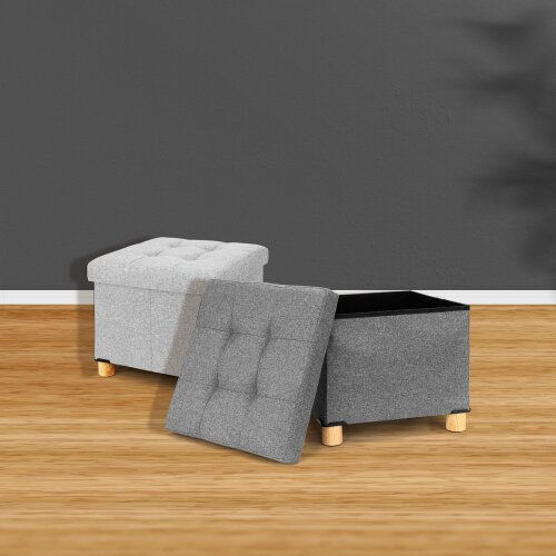 Stool Cube Footstool Bench Chair Storage Stool