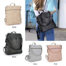 Anti-Theft Leather Rucksack Travel Shoulder Bag