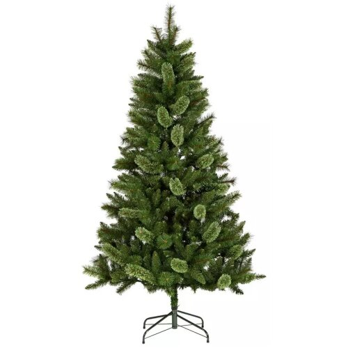 Home 6ft Mixed Cashmere Christmas Tree - Green
